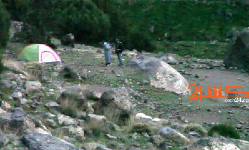 Moroccan killings – Video of unknown man with Maren (28) and Louisa